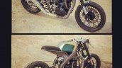 Yamaha R15 Tony 535 by Inline3 Cutom Motorcycles front and rear three quarter