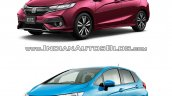 2017 Honda Jazz vs. 2013 Honda Jazz front three quarters left side
