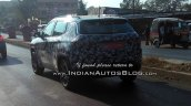 2017 Jeep Compass rear three quarters in motion spy shot India