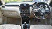 2017 Maruti Dzire dashboard manual First Drive Review