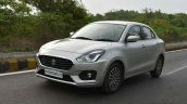 2017 Maruti Dzire front three quarter First Drive Review
