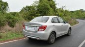 2017 Maruti Dzire rear three quarter First Drive Review