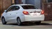 2017 Mitsubishi Attrage rear quarter unveiled