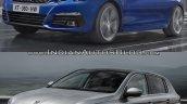2017 Peugeot 308 vs. 2013 Peugeot 308 front three quarters