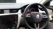 2017 Skoda Octavia (facelift) dashboard driver side spy shot
