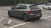 2017 VW Polo rear three quarters left side spy shot