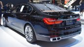 BMW 7 Series M760Li xDrive V12 Excellence rear three quarters left side at BIMS 2017