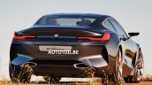 BMW 8 Series concept rear three quarters right side leaked image
