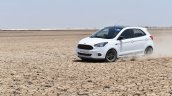 Ford Figo Sports Edition (Ford Figo S) in motion at Rann of Kachchh
