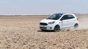 Ford Figo Sports Edition (Ford Figo S) in motion at Rann of Kachchh