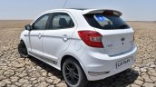 Ford Figo Sports Edition (Ford Figo S) rear three quarters at Rann of Kachchh