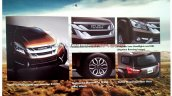 Indian-spec Isuzu MU-X brochure leaked image exterior features