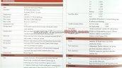 Indian-spec Isuzu MU-X brochure leaked image specs