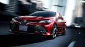 JDM-spec 2018 Toyota Camry Hybrid front three quarters left side