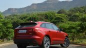 Jaguar F-Pace R-Sport SUV rear three quarter low Review