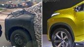 Production Mitsubishi XM front quarter panel spy shot
