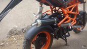 TVS Scooty customised KTM Duke 125 exhaust can