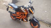 TVS Scooty customised KTM Duke 125 front three quarter