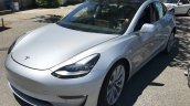 Tesla Model 3 front three quarters left side spy shot