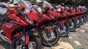Yamaha R15 v3.0 Vietnam dealership front three quarter