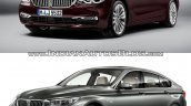 2017 BMW 6 Series GT vs. BMW 5 Series GT front three quarters