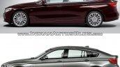 2017 BMW 6 Series GT vs. BMW 5 Series GT profile