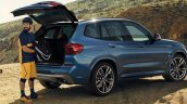 2017 BMW X3 M40i xDrive rear three quarters leaked image