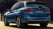 2017 BMW X3 M40i xDrive rear three quarters left side leaked image