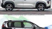 2017 Citroen C3 Aircross vs. 2012 Citroen C3 Picasso profile