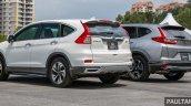 2017 Honda CR-V vs. 2015 Honda CR-V rear three quarters left side