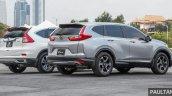 2017 Honda CR-V vs. 2015 Honda CR-V rear three quarters right side