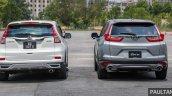 2017 Honda CR-V vs. 2015 Honda CR-V rear
