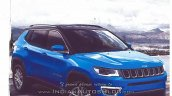2017 Jeep Compass front three quarters right side brochure image