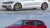 2017 VW Polo vs. 2014 VW Polo front three quarters left side