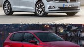 2017 VW Polo vs. 2014 VW Polo front three quarters right side