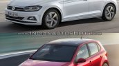 2017 VW Polo vs. 2014 VW Polo front three quarters