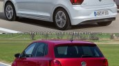 2017 VW Polo vs. 2014 VW Polo rear three quarters left side