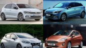 2017 VW Polo vs. 2017 Ford Fiesta vs. 2017 Nissan Micra vs. Hyundai i20 front three quarters