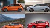 2017 VW Polo vs. 2017 Ford Fiesta vs. 2017 Nissan Micra vs. Hyundai i20 profile