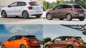 2017 VW Polo vs. 2017 Ford Fiesta vs. 2017 Nissan Micra vs. Hyundai i20 rear three quarters