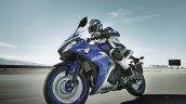 2017 Yamaha R3-Europe motion blue front three quarter