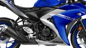 2017 Yamaha R3 Europe studio blue side panel