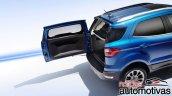 2018 Ford EcoSport (facelift) rear door
