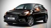 2018 Hyundai i20 (facelift) rendered in black colour