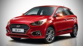 2018 Hyundai i20 (facelift) rendered in red colour