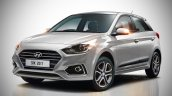 2018 Hyundai i20 (facelift) rendered in silver colour
