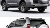 2018 Toyota Land Cruiser Prado vs. 2014 Toyota Land Cruiser Prado rear three quarters