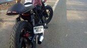 Bajaj Pulsar 220 cafe racer by Brotherhood Customs rear