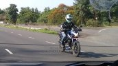 Bajaj Pulsar NS160 spy shot India blue front three quarter closeup