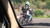 Bajaj Pulsar NS160 spy shot India blue rear three quarter